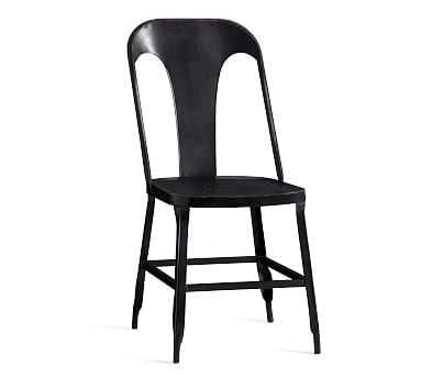 Maxx Metal Chair, Bronze - Pottery Barn