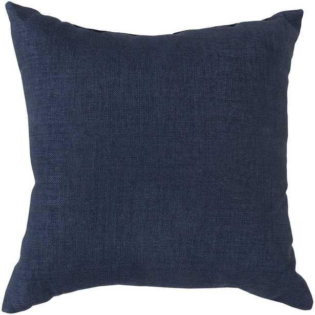 Strahlhorn Poly Euro Pillow, Blue - Home Depot