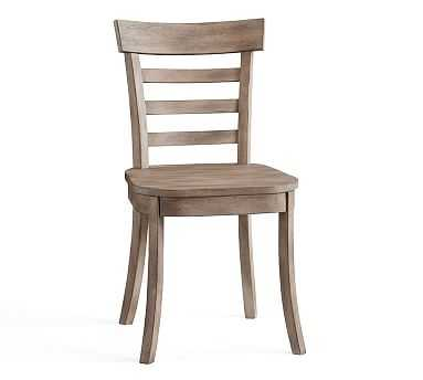 Liam Dining Side Chair, Weathered Gray - Pottery Barn