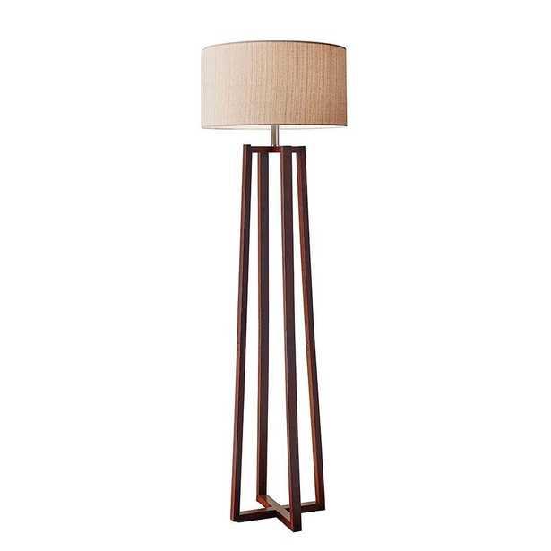 Adesso Quinn 60 in. Walnut Floor Lamp - Home Depot