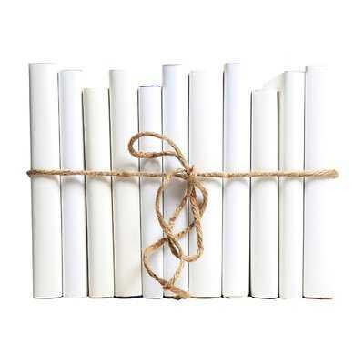 Authentic Decorative Books - By Color Modern Snowfall ColorPak (Wrap) (1 Linear Foot, 10-12 Books) - Wayfair