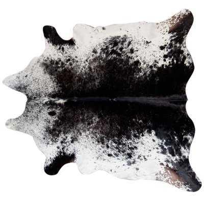 Bullis Speckled Hand Woven Cowhide Black/White Area Rug - Wayfair