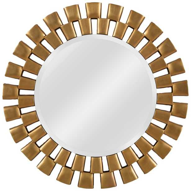 """Kenroy Home Gilbert Gold 36"""" Round Wall Mirror - Style # 62F05 - Lamps Plus"""