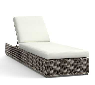 Huntington All-Weather Wicker Single Chaise - Frame only - Pottery Barn