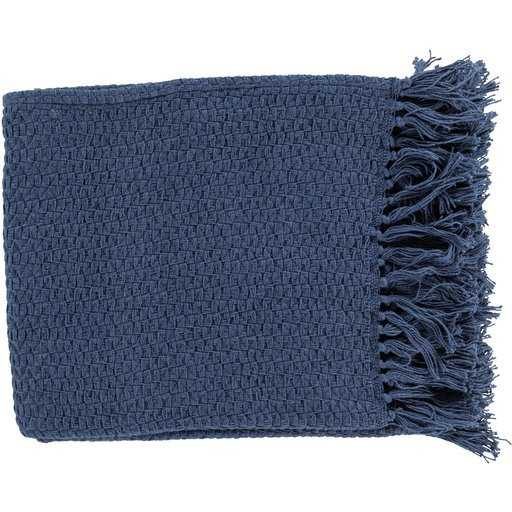 Classic Woven Throw, Navy - Havenly Essentials