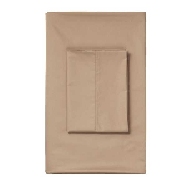 Cafe 450 Thread Count Deep Pocket Sateen King Fitted Sheet - Home Depot