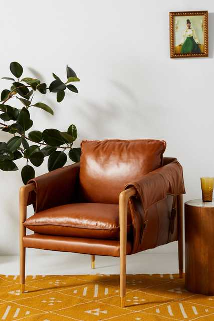 Havana Leather Chair - ships Aug. 24th - Anthropologie