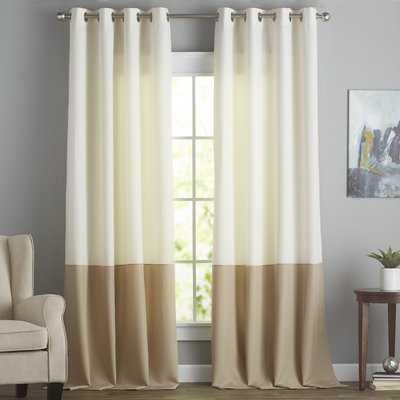 Darden Solid Semi-Sheer Grommet Single Curtain Panel - AllModern