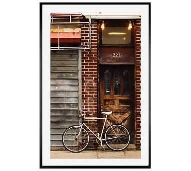 Brooklyn Bike Cindy Taylor 42x28 Wood Gallery Black Mat - Pottery Barn