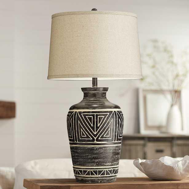 Miguel Earth Tone Southwest Rustic Jar Table Lamp - Style # 72M43 - Lamps Plus