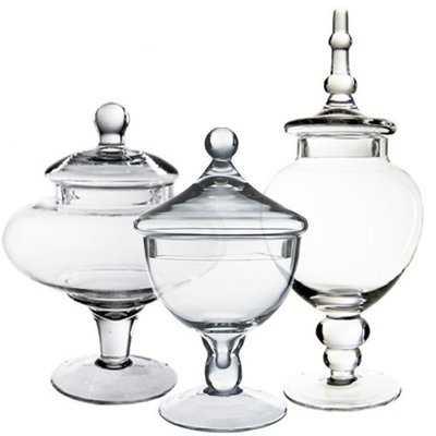 Hackler Glass Candy Buffet 3 Piece Jar Set - Wayfair