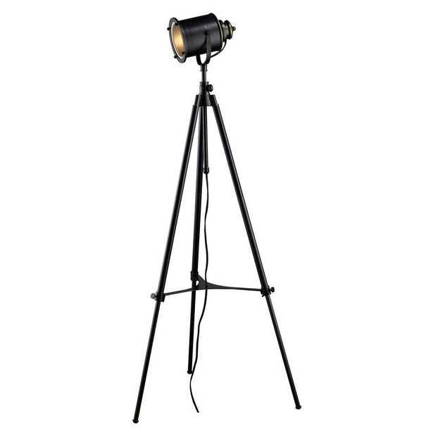 Titan Lighting Ethan 37 in. Adjustable Tripod Floor Lamp in Restoration Black - Home Depot