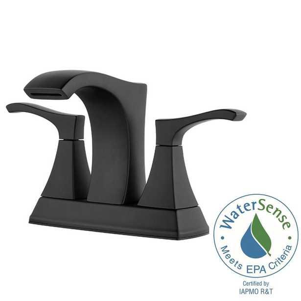 Pfister Venturi 4 in. Centerset 2-Handle Bathroom Faucet in Matte Black - Home Depot