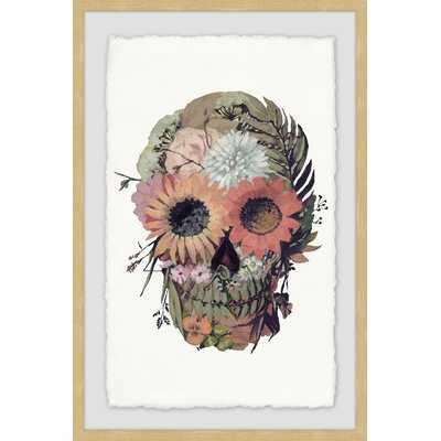 'Floral Skull' Framed Print - Wayfair