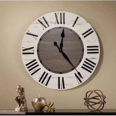 Oversized Vanwagoner Farmhouse Wall Clock - Birch Lane
