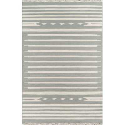 Thompson Billings Hand-Woven Wool Gray Area Rug - AllModern