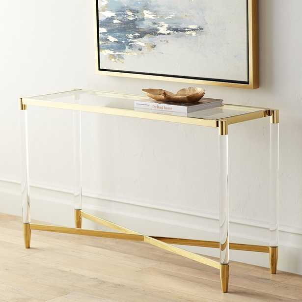 Stefania Gold and Acrylic Console Table - Style # 55K06 - Lamps Plus