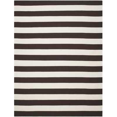 Skyler Hand-Woven Cotton Black/Ivory Area Rug - AllModern