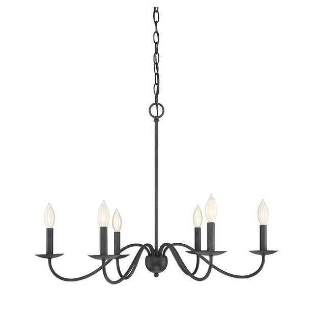 Filament Design 6-Light Aged Iron Chandelier - Home Depot