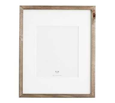 Wood Gallery Single Opening Frame, 8x10 - Gray - Pottery Barn