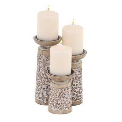 3 Piece Candlestick Set - Birch Lane