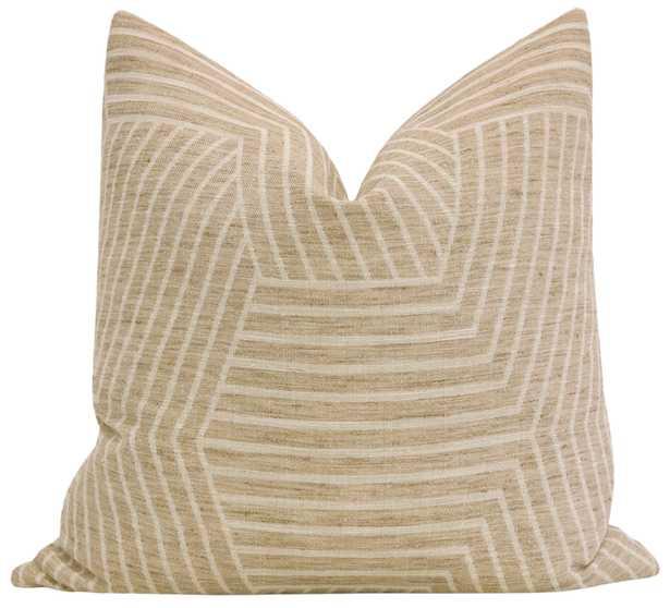 "Labyrinth Linen // Natural - 20"" X 20"" - Little Design Company"