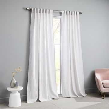 "Delancey Curtain, Platinum/Stone White, 48""x96"" - West Elm"