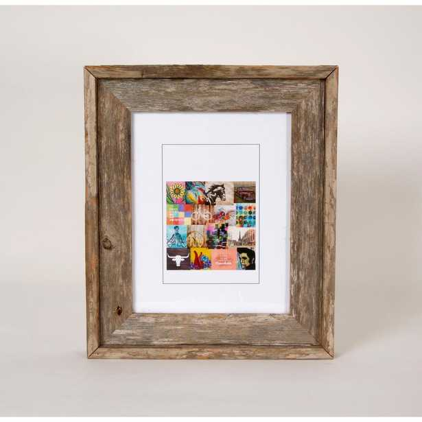 Creative Gallery 4 in. x 6 in. Rustic Reclaimed Barnwood Picture Frame, Natural Wood - Home Depot