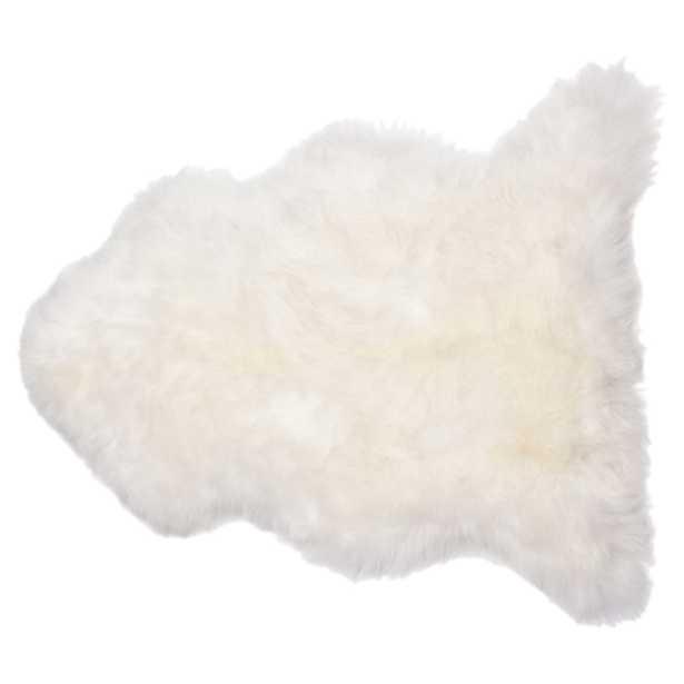 Veruca Modern Ivory Sheepskin Pelt Fur Rug - Kathy Kuo Home