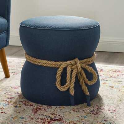 Jovani Rope Upholstered Pouf - Wayfair
