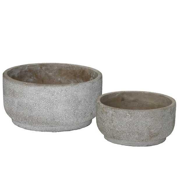Gray Concrete Rough Cement Decorative Vase - Home Depot