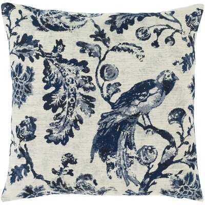 Clemson Transitional Navy Pillow Cover - 20x20 Polyester/Polyfill - Wayfair