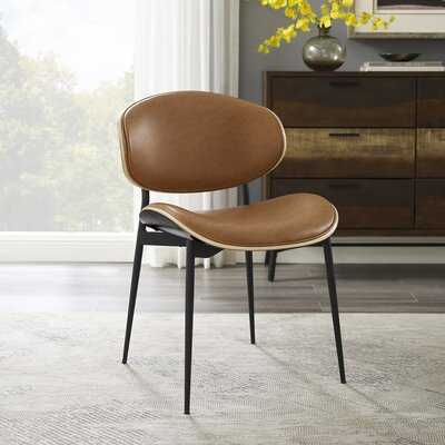 Faux Leather Accent Dining Chair - Wayfair