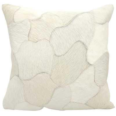 Tyne Natural Leather Hide Throw Pillow - Wayfair