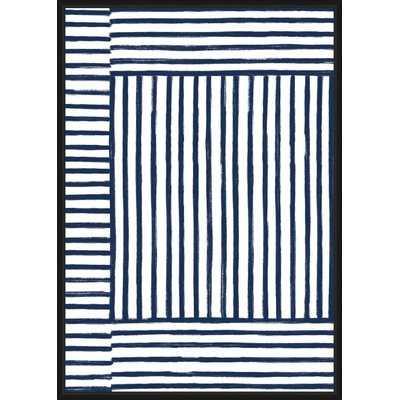 'Navy place' Framed Graphic Art Print on Canvas - Wayfair