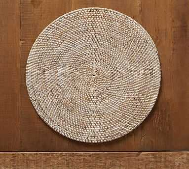 Tava Flat Round Placemat - Natural - Pottery Barn