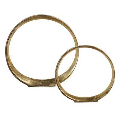2 Piece Winterville Ring Sculpture Set - Wayfair