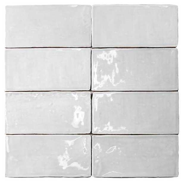 Splashback Tile Catalina White 3 in. x 6 in. x 8 mm Ceramic Wall Subway Tile - Home Depot