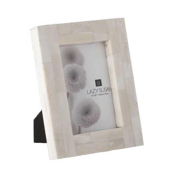 Bone Block 1-Opening 4 in. x 6 in. Natural Bone Picture Frame - Home Depot