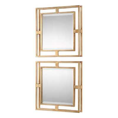 2 Piece Traditional Beveled Mirror Set - AllModern