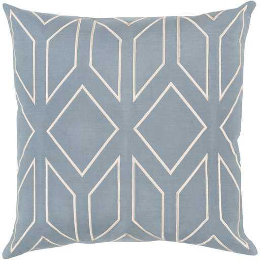 Skyline Pillow - Denim - 20x20 - Poly Insert - Neva Home