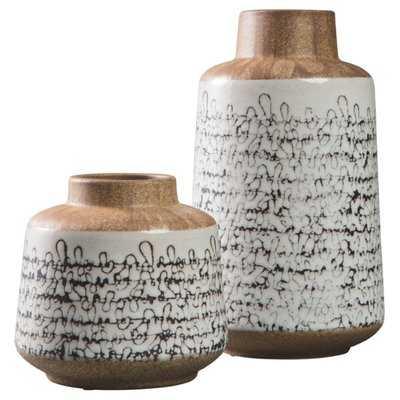 Saez 2 Piece Table Vase Set - Wayfair