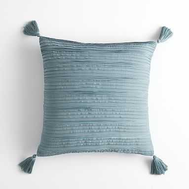Pretty Pleats Pillow Cover, 18x18, Vintage Teal - Pottery Barn Teen