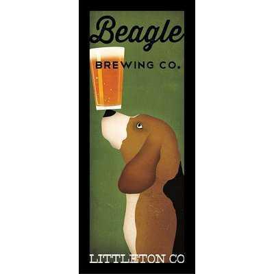 'Beagle Brewing Company Littleton Colorado' Framed Vintage Advertisement - Wayfair