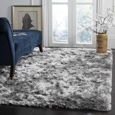 Morrell Shag Hand-Tufted Cotton Gray Area Rug - Wayfair