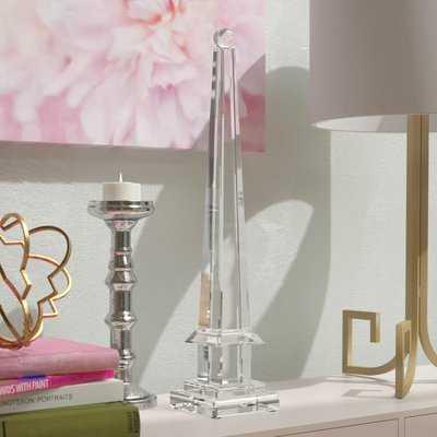 Hess Mirrored Obelisk with Glass Ball Sculpture - Wayfair