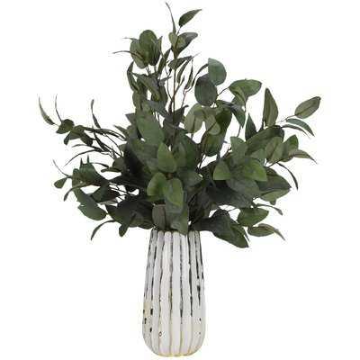 Elm Branches Plant in Ceramic Vase - Wayfair