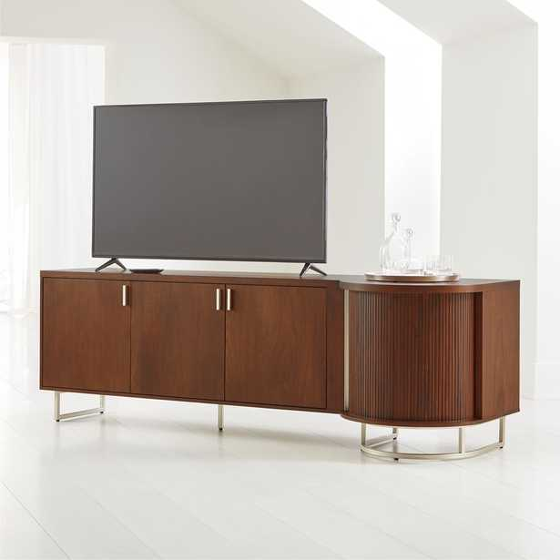 Trifecta Bar/Media Cabinet with Light - Crate and Barrel