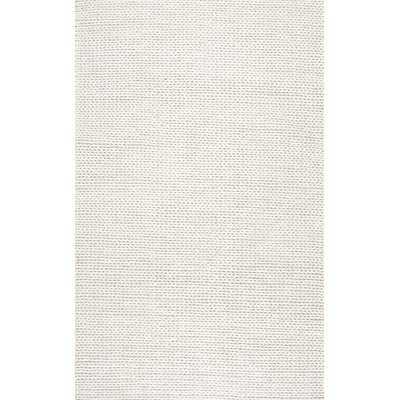 Arviso Handmade Braided Wool Off White Area Rug - Birch Lane