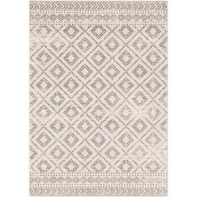 "Woodrum Distressed Global-Inspired Light Gray/White Area Rug 7'10"" x 10'3"" - Wayfair"